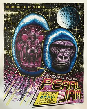 Concert poster from Pearl Jam - Jacksonville Veterans Memorial Arena, Jacksonville, FL, USA - 13. Apr 2016