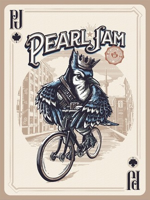 Concert poster from Pearl Jam - Air Canada Centre, Toronto, ON, Canada - 12. May 2016