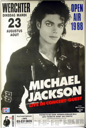 Concert poster from Michael Jackson - Werchter Festival, Werchter, Belgium - 23. Aug 1988