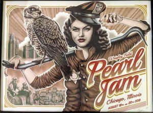 Concert poster from Pearl Jam - Wrigley Field, Chicago, IL, USA - 20. Aug 2018