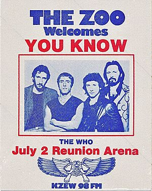 Concert poster from The Who - Reunion Arena, Dallas, TX, USA - 2. Jul 1980