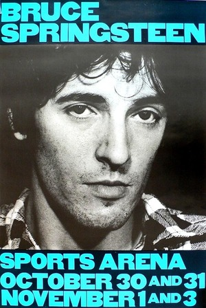 Concert poster from Bruce Springsteen - Los Angeles Memorial Sports Arena, Los Angeles, CA, USA - 30. Oct 1980