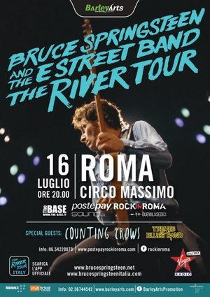 Concert poster from Bruce Springsteen - Circo Massimo, Rome, Italy - 16. Jul 2016
