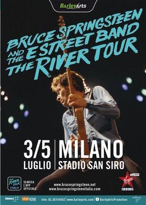 Concert poster from Bruce Springsteen - San Siro, Milano, Italy - 3. Jul 2016