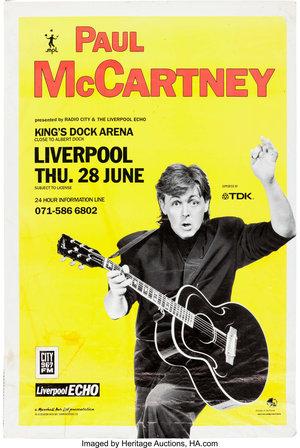 Concert poster from Paul McCartney - King's Dock, Liverpool, England - 28. Jun 1990