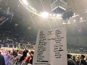 Setlist photo from Pearl Jam - Hampton Coliseum, Hampton, VA, USA - 18. Apr 2016
