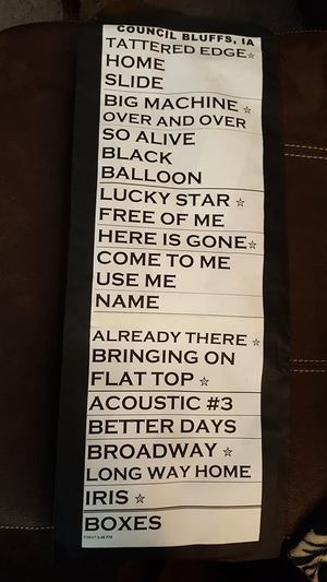 Setlist photo from Goo Goo Dolls - Stir Cove at Harrah's, Council Bluffs, IA, USA - 21. Jul 2017